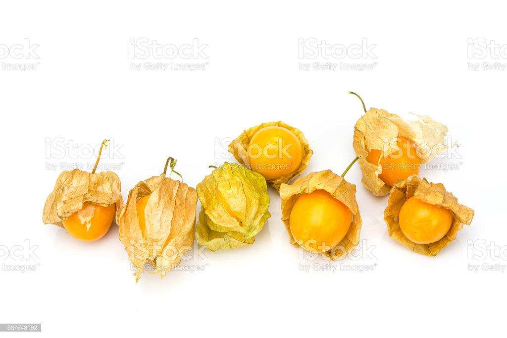 Cape gooseberry isolated on white background stock photo