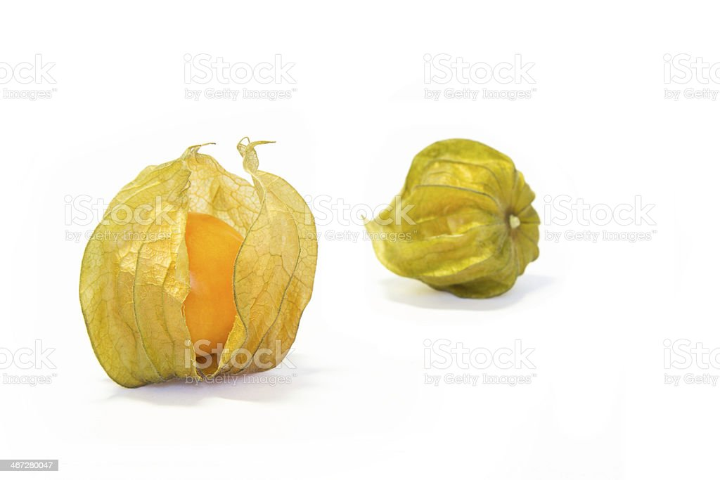 Cape Gooseberry or Physalis fruit stock photo