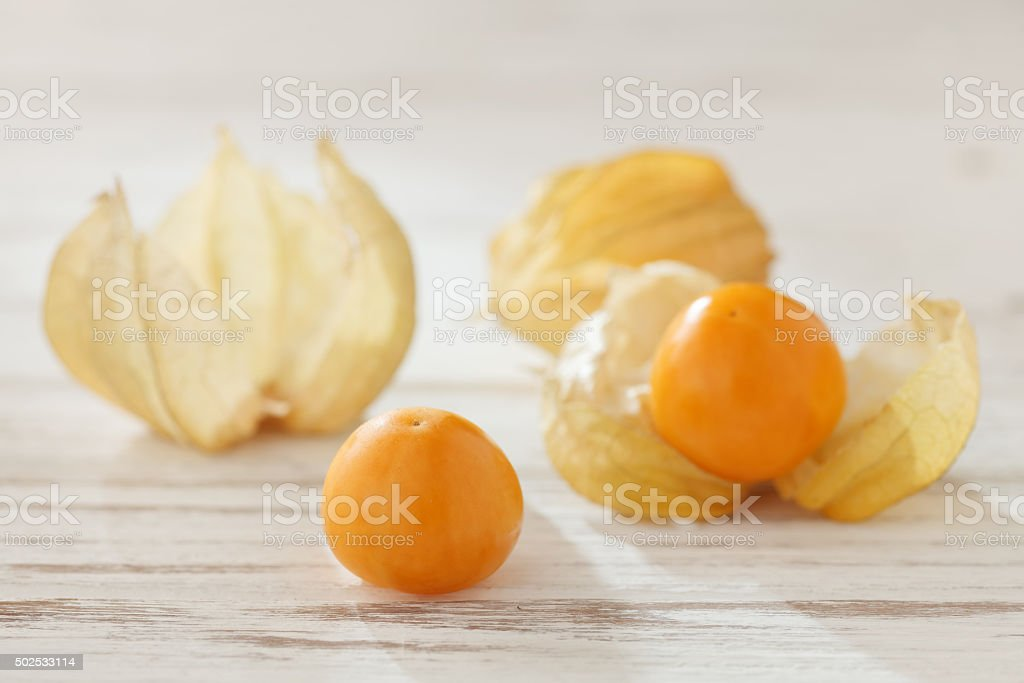 cape gooseberry physalis fruit ground cherry organic food vegetable stock photo