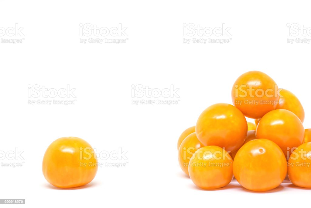 cape gooseberry, physalis isolated on white background stock photo