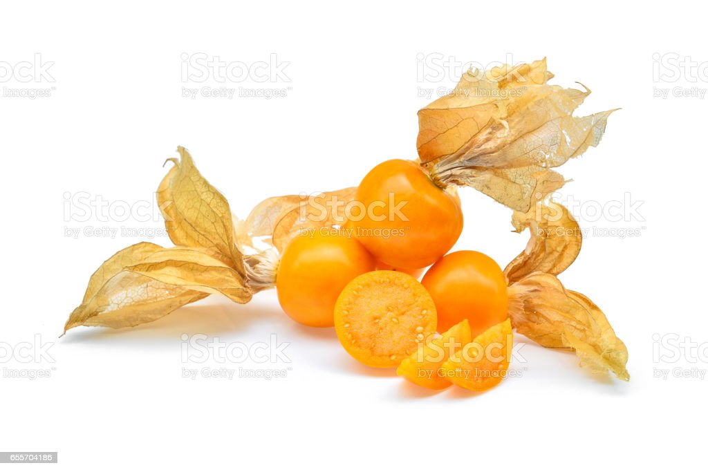 cape gooseberry,physalis isolated on white background stock photo