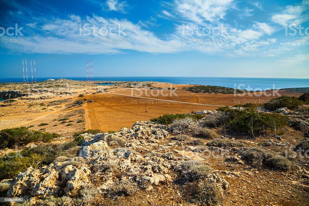 Cape Greco landscape stock photo