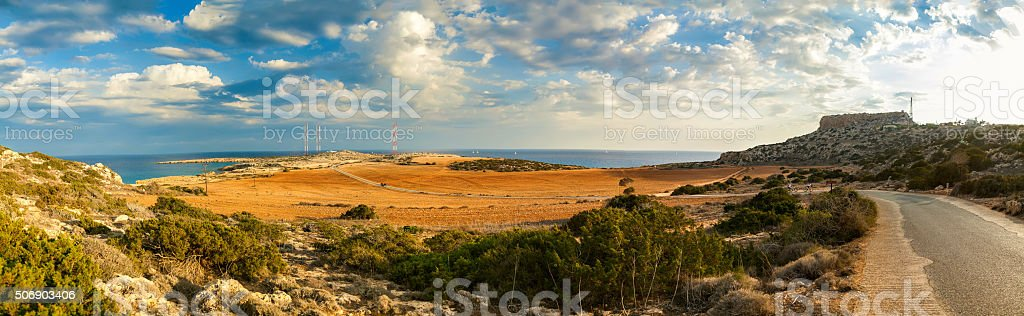 Cape Greco panorama stock photo