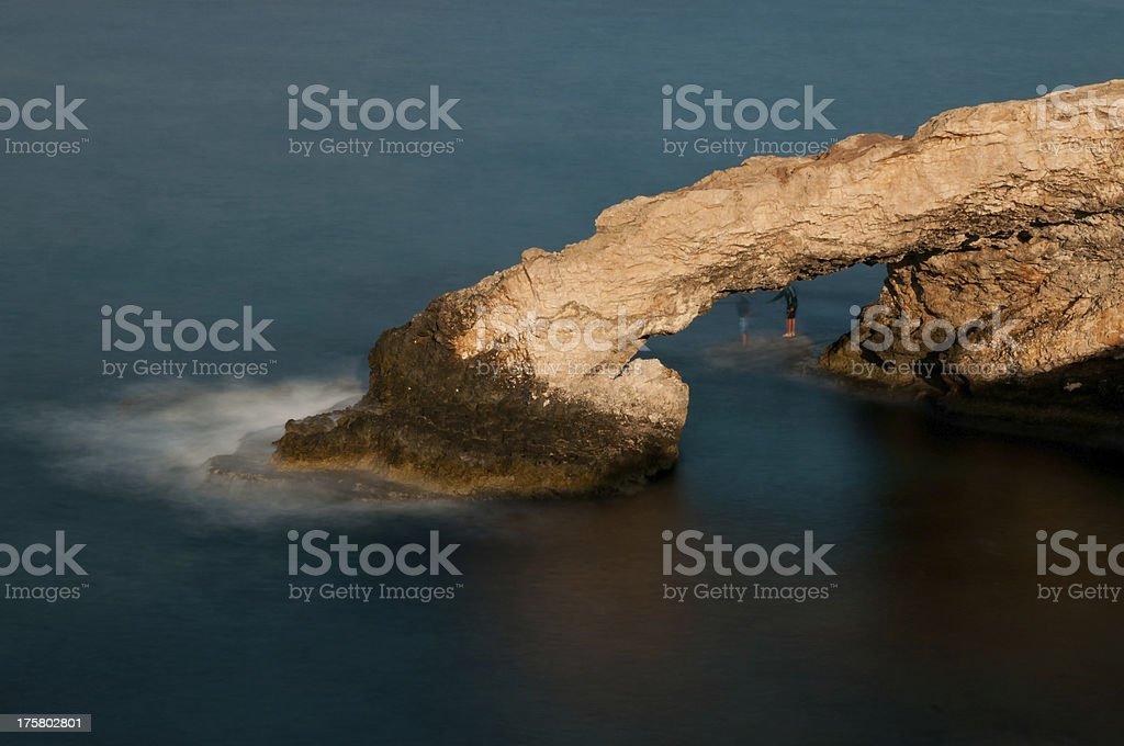 Cape Greco sea caves, Ayia Napa, Cyprus stock photo