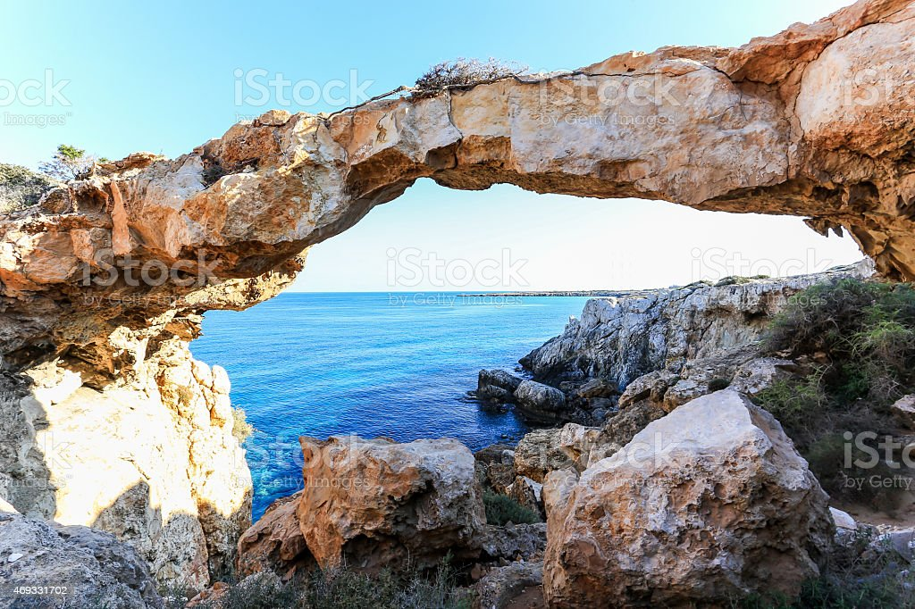 Cape Greco - Sea Caves, Cyprus stock photo