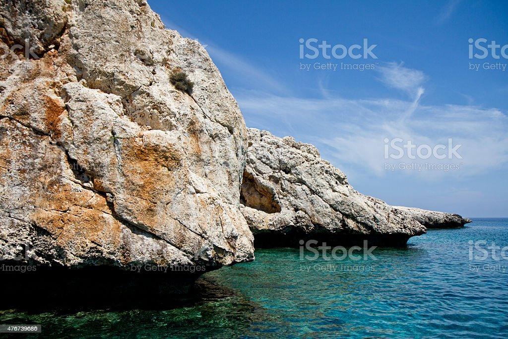 Cape Greko. Mediterranean Sea. stock photo