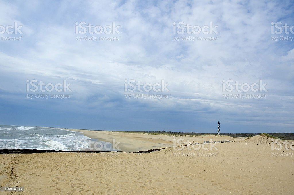 Cape Hatteras Beach royalty-free stock photo