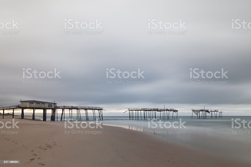 Cape Hatteras Fishing Pier stock photo
