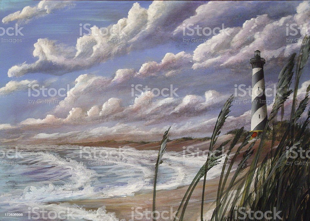 Cape Hatteras Lighthouse 3 royalty-free stock photo