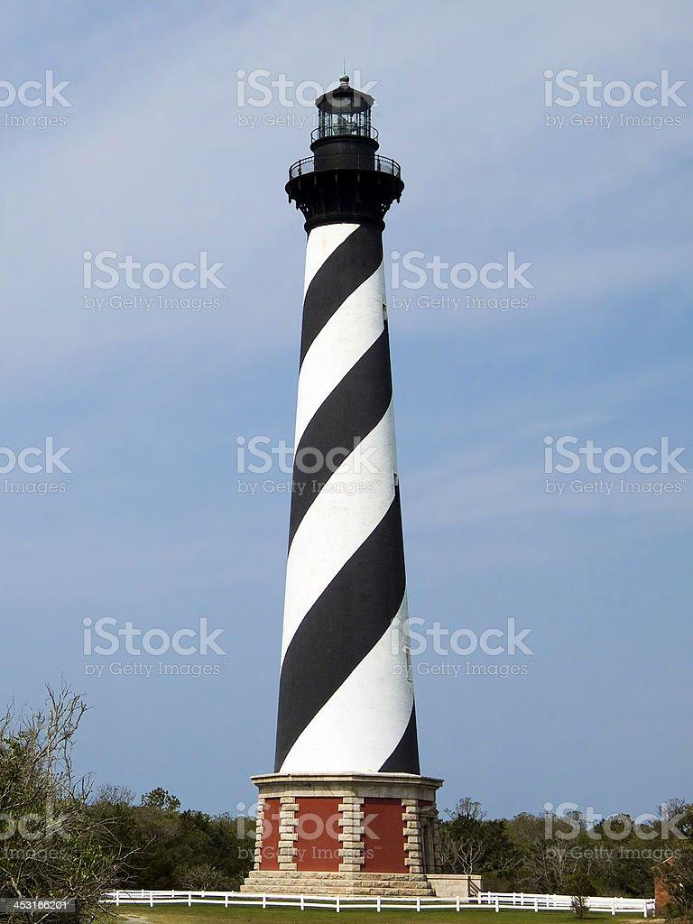 Capo il faro di Hatteras, North Carolina foto stock royalty-free