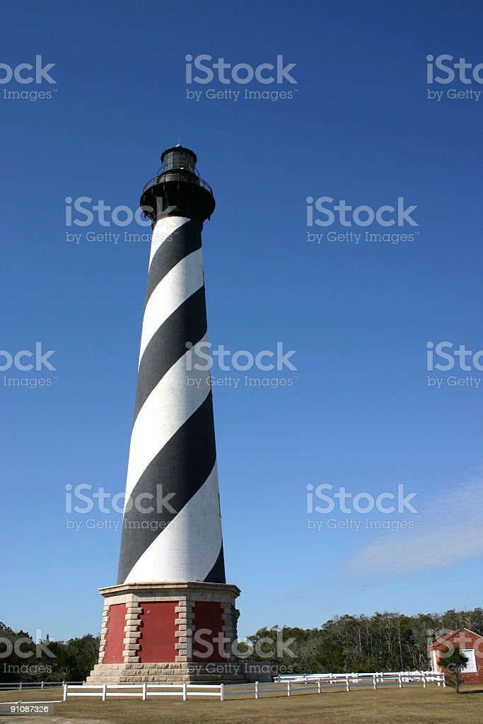 Cape Hatteras Lighthouse, OBX, North Carolina royalty-free stock photo