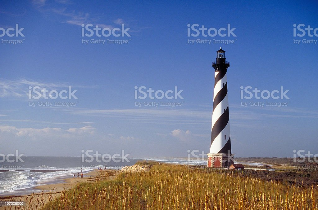 Cape Hatteras Lighthouse royalty-free stock photo