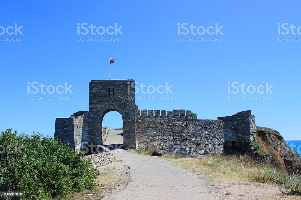 Cape Kaliakra, entrance to the fortress stock photo