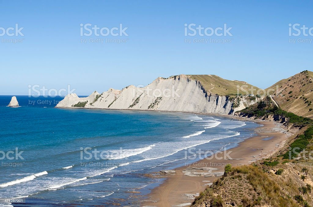 Cape Kidnappers, New Zealand stock photo