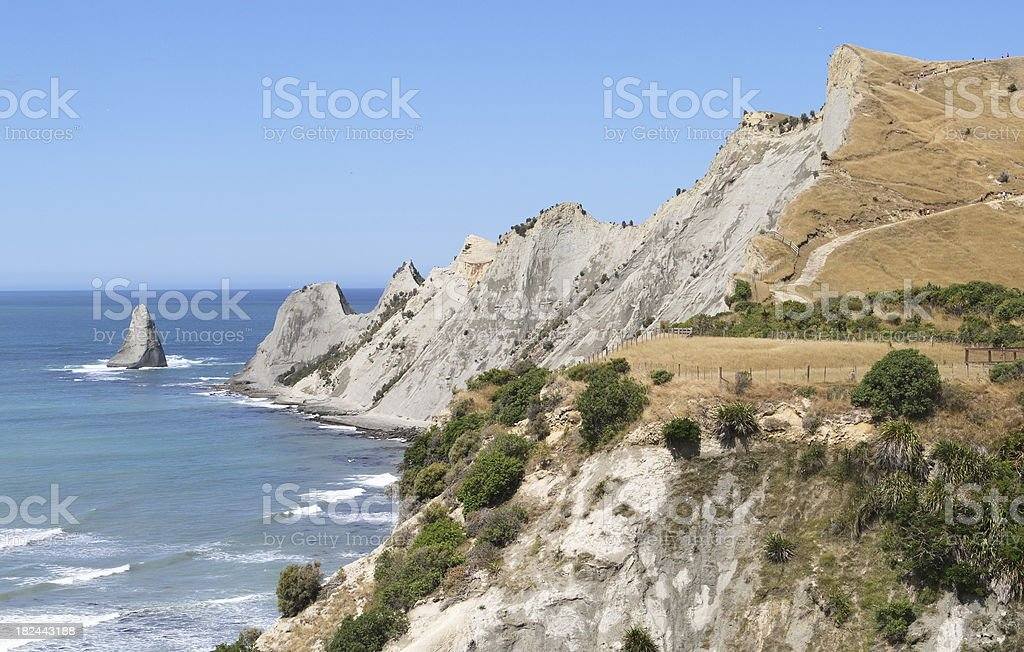Cape Kidnappers Point, Hawkes Bay, New Zealand stock photo