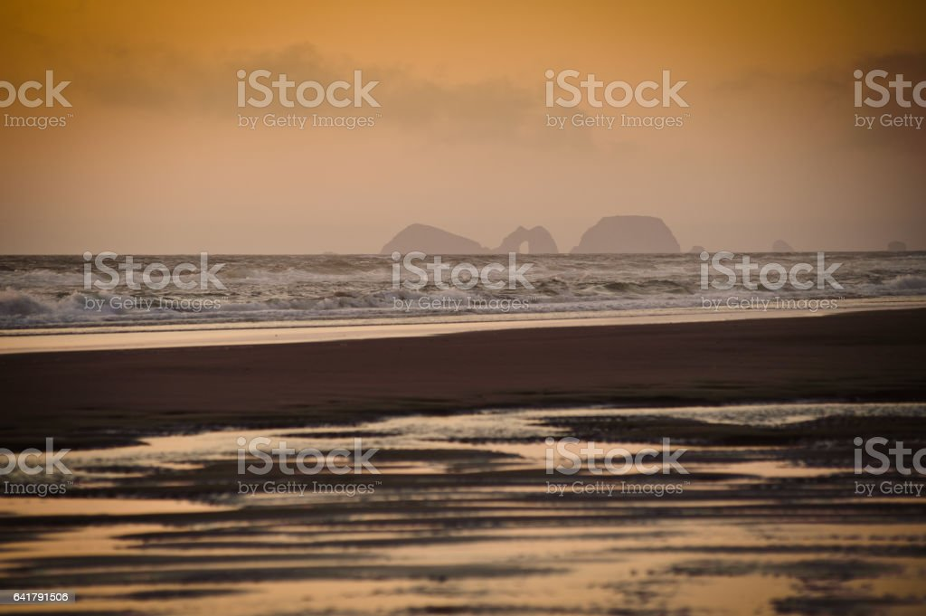 Cape Lookout view at the haze stock photo