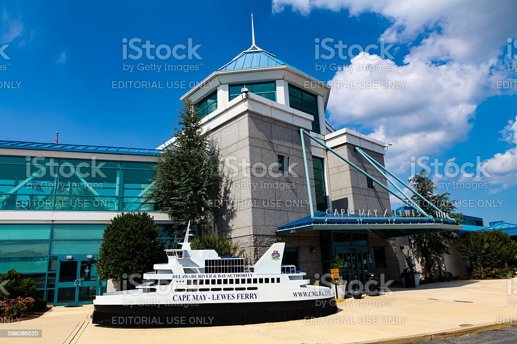 Cape May - Lewes Ferry Terminal in Lewes stock photo