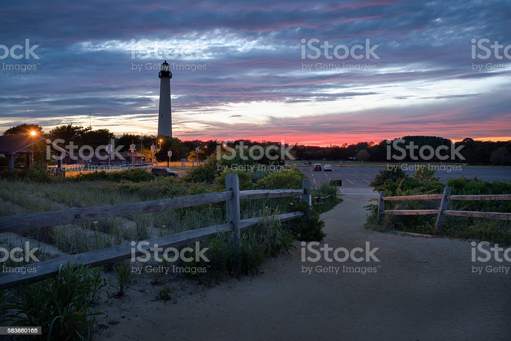 Cape May Point landscape stock photo