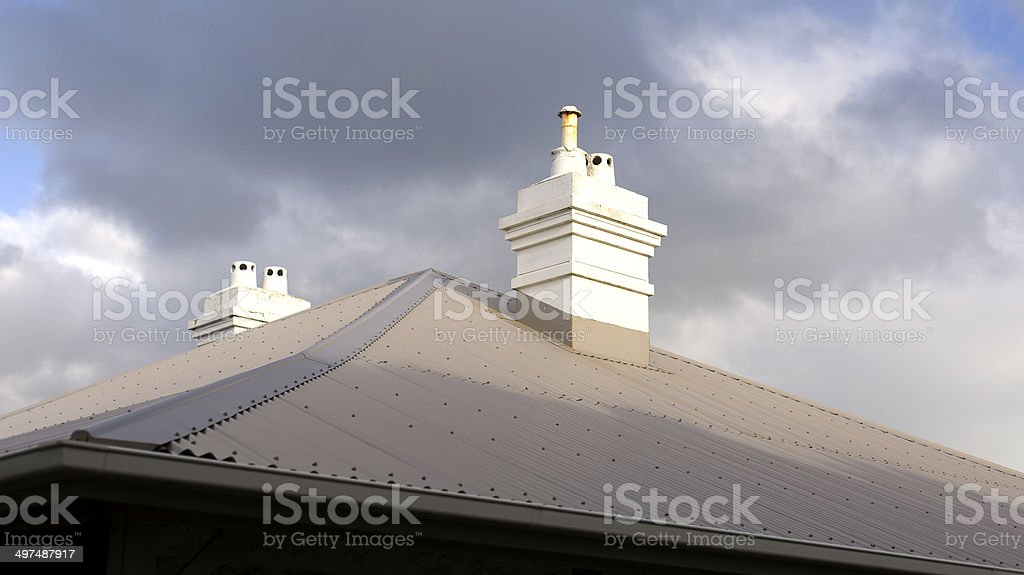 Cape Naturalist Lighthouse Chimneys royalty-free stock photo