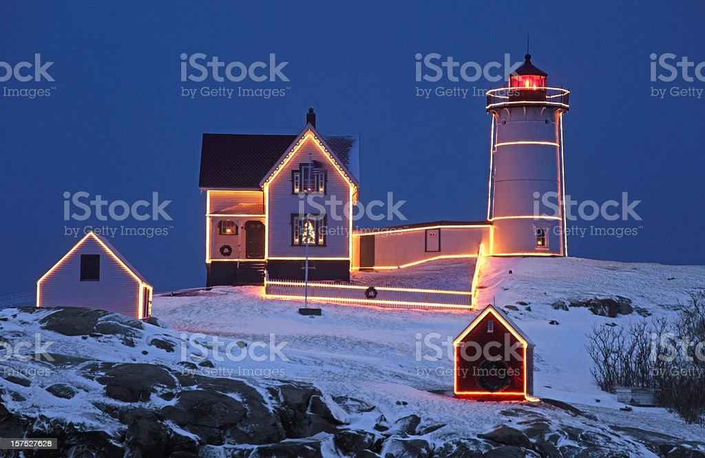 Cape Neddick Lighthouse stock photo