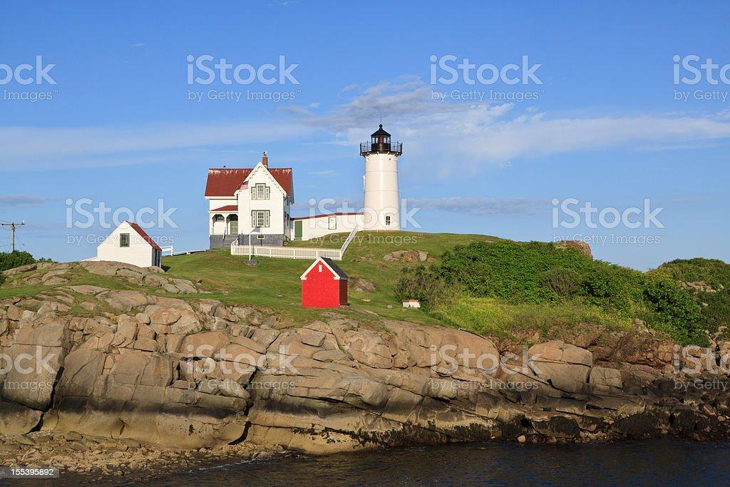 Cape Neddick ('Nubble') Lighthouse, York Maine. royalty-free stock photo