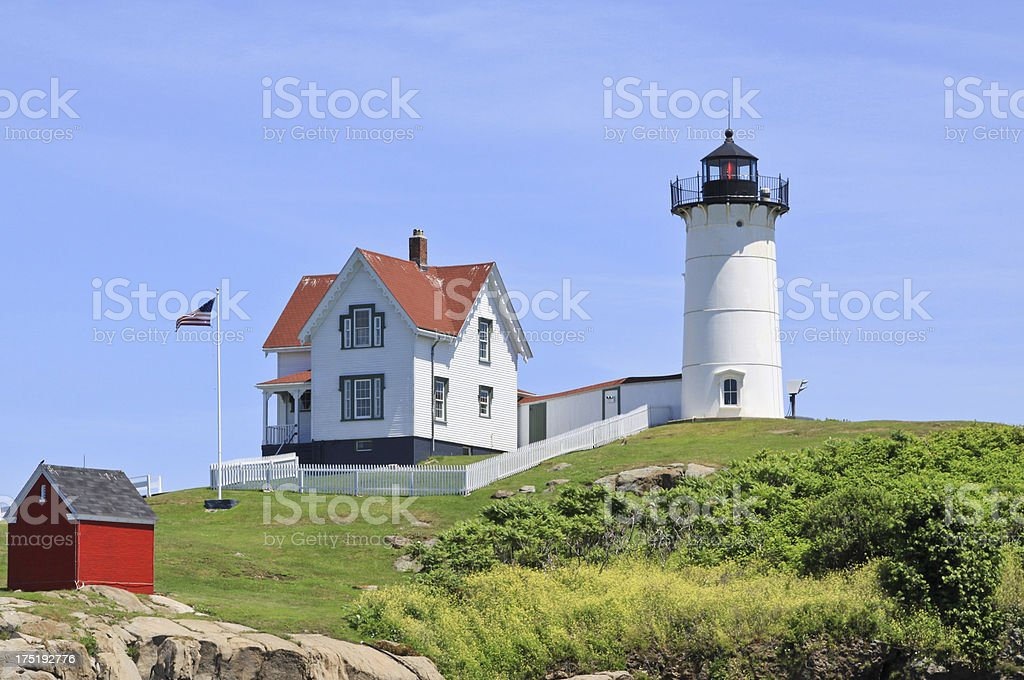 Cape Neddick (Nubble) Lighthouse, York, Maine. royalty-free stock photo