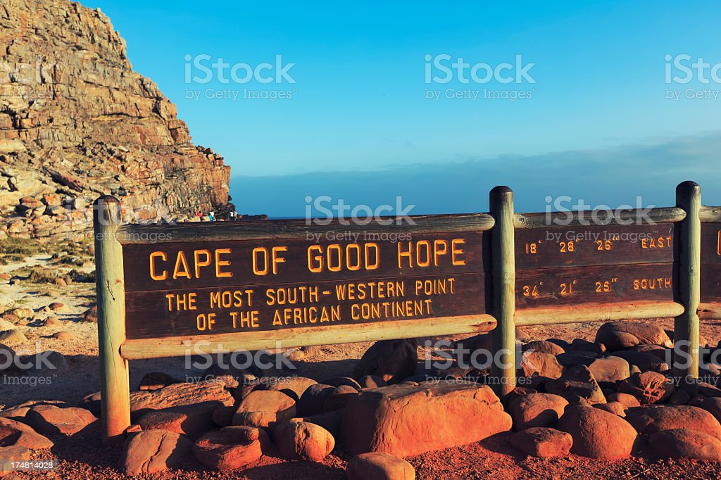 Cape of Good Hope sign stock photo