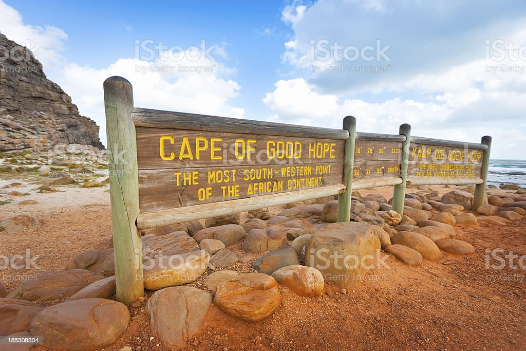 Cape of Good Hope Sign South Africa stock photo