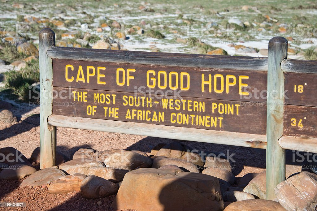 Cape of Good Hope sign, South Africa stock photo