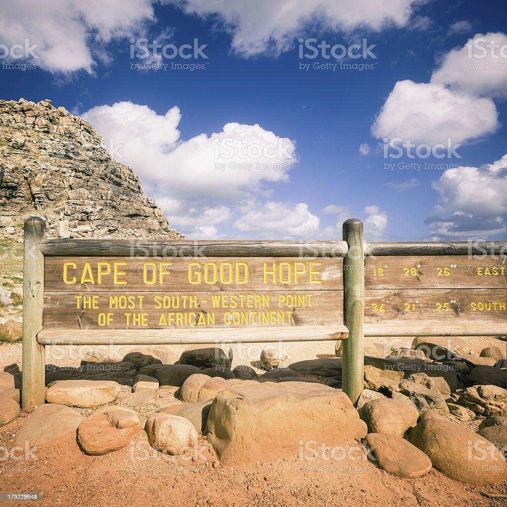 Cape of Good Hope Sign,South Africa stock photo