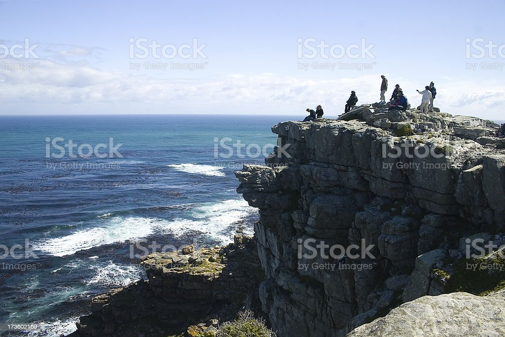 Cape of good hope with people on top royalty-free stock photo