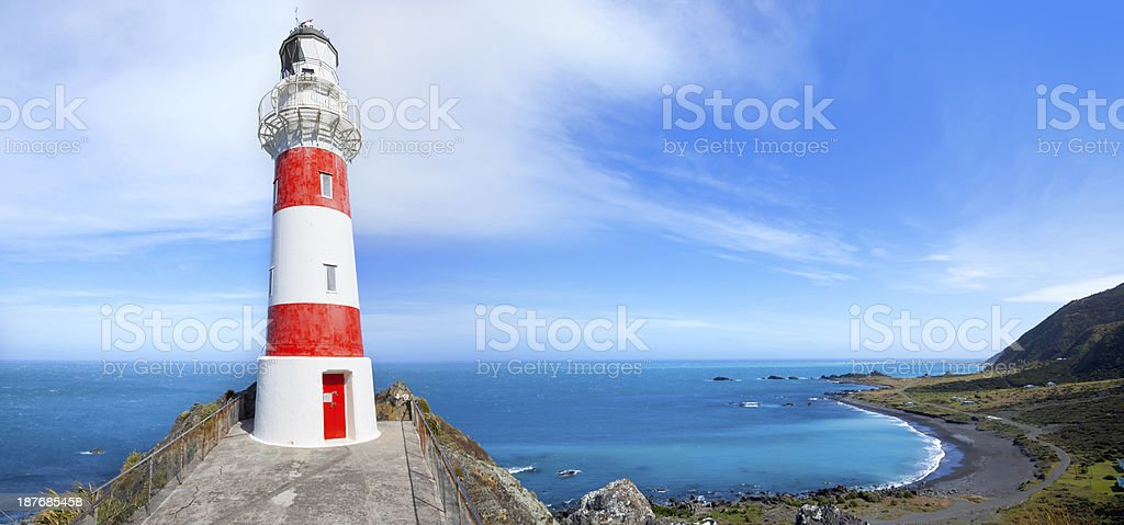 Cape Palliser Lighthouse, Wairarapa, New Zealand stock photo