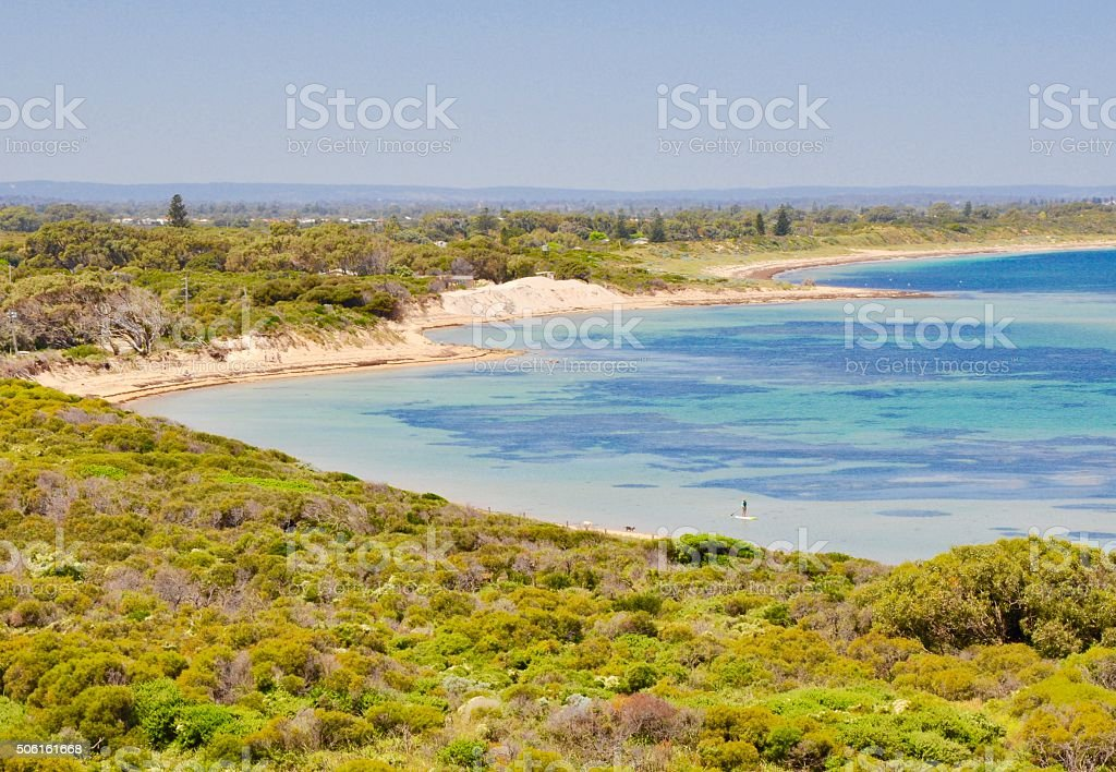 Cape Peron Bay: Turquoise-green Indian Ocean stock photo