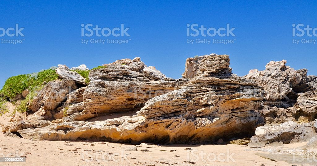 Cape Peron: Limestone Beaches stock photo