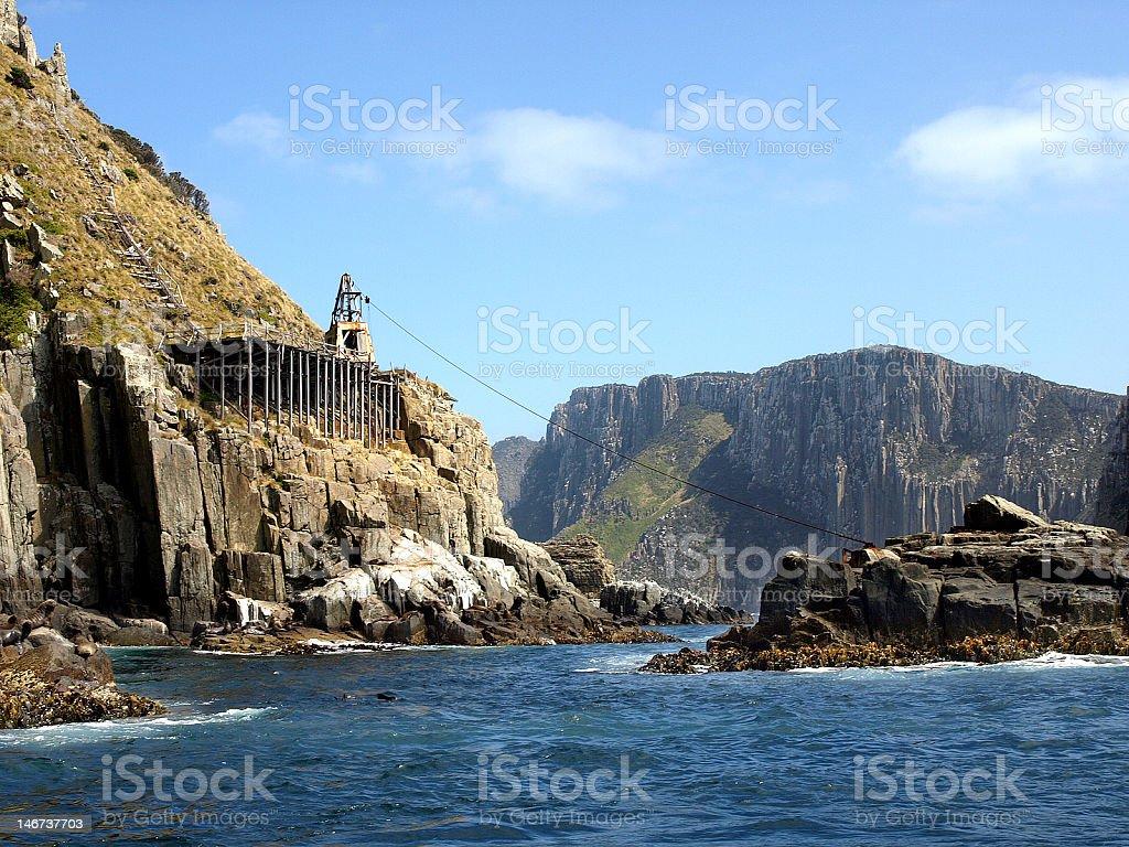 Cape Pillar, Tasmania stock photo