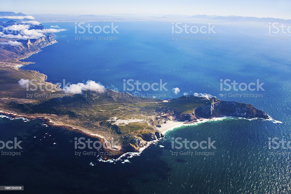 Cape Point aerial, South Africa stock photo