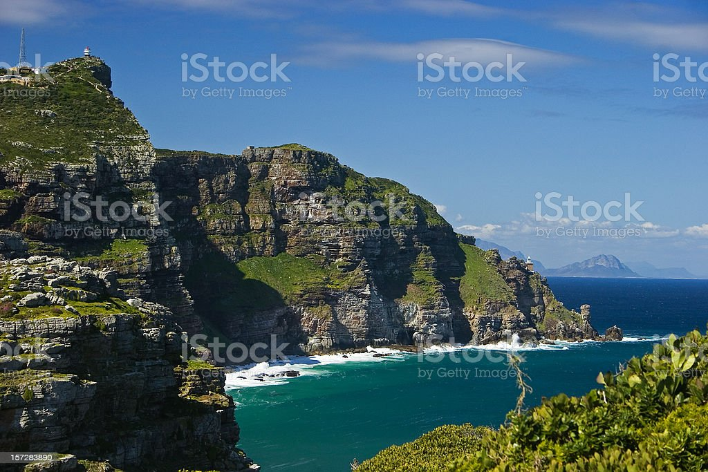 Cape Point in South Africa stock photo
