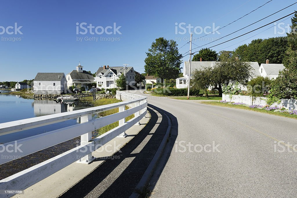 Cape Porpoise village stock photo