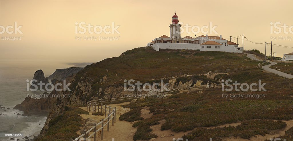 Cape Roca Lighthouse royalty-free stock photo