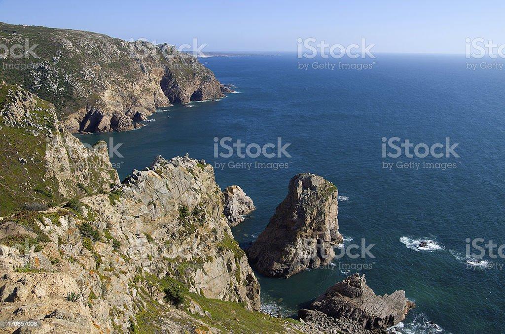 Cape Roca rocks royalty-free stock photo