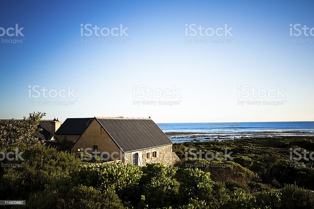 Cape seaside cottage royalty-free stock photo