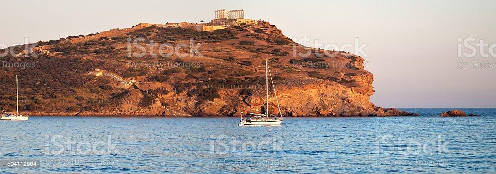 Cape Sounion, Poseidon's temple, Attica, Greece stock photo