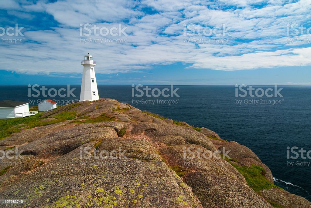 Cape Spear Lighthouse stock photo