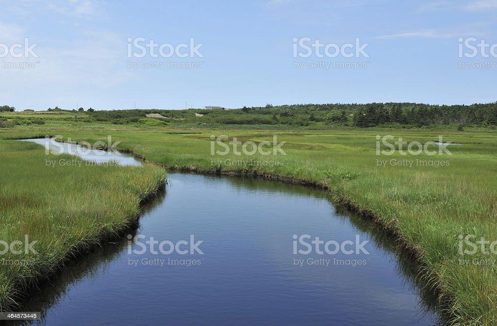 Cape St. Mary Creek stock photo