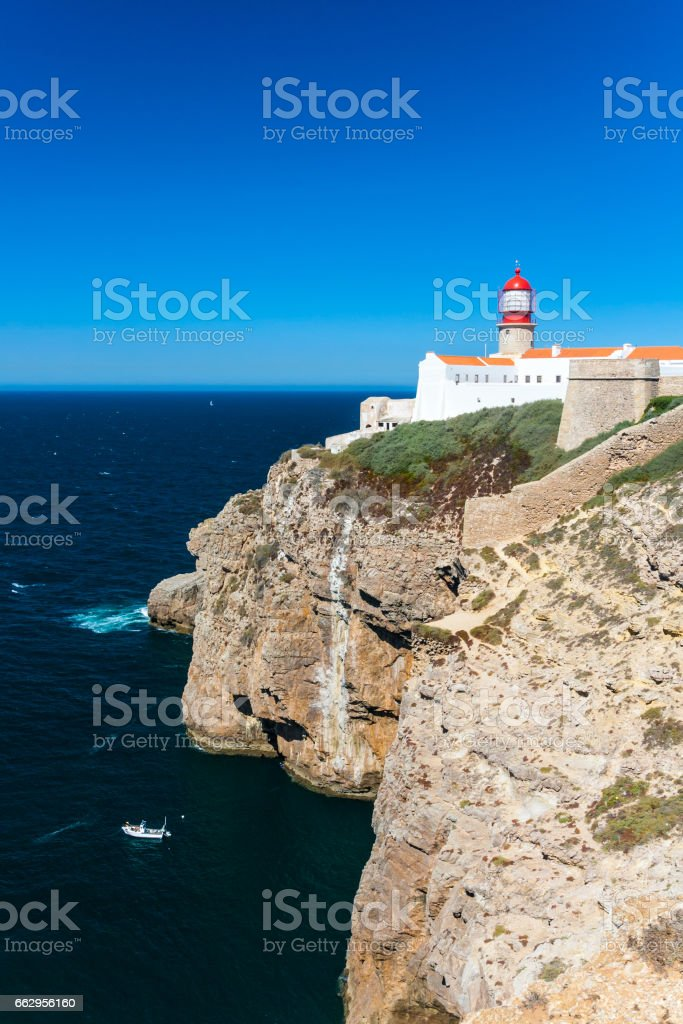 Cape St. Vincent in southern Portugal stock photo