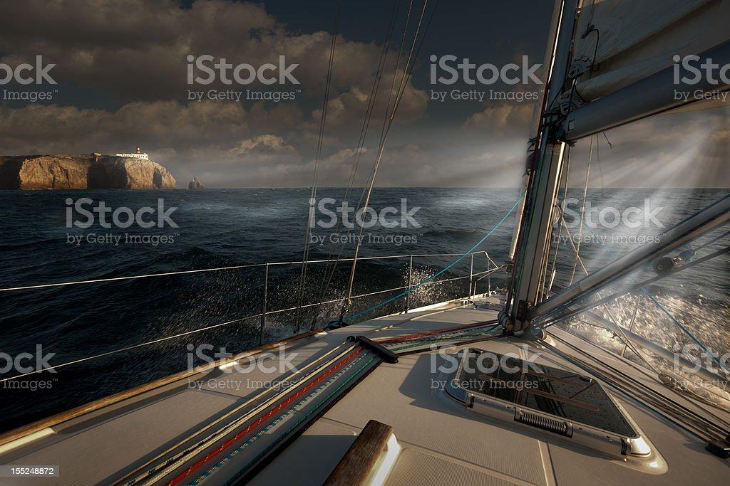 Cape St. Vincent Storm royalty-free stock photo