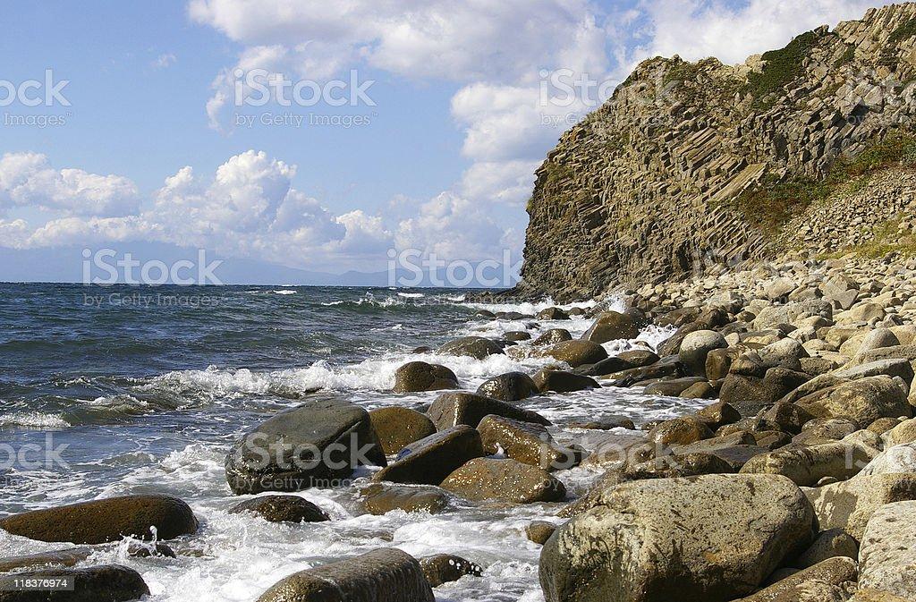 Cape Stolbchatyy royalty-free stock photo