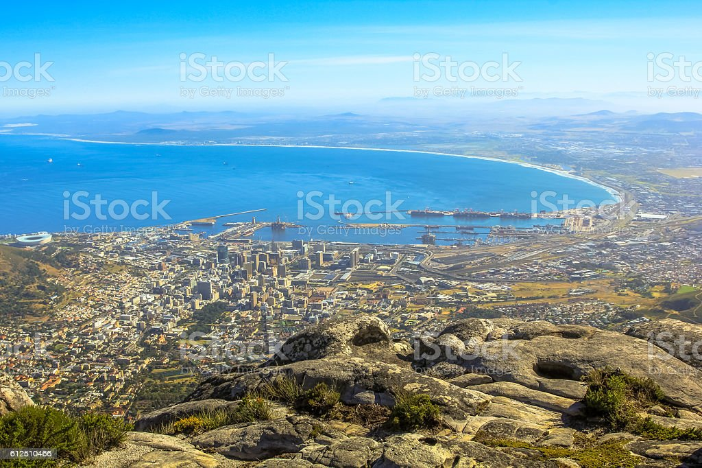 Cape Town aerial view stock photo