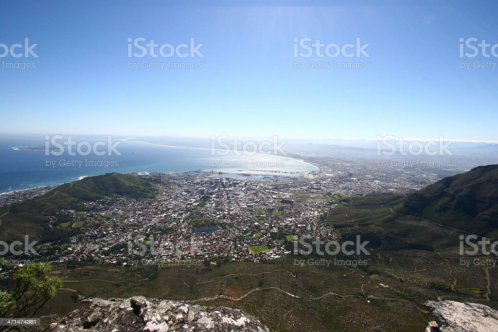 Cape Town Ariel view stock photo