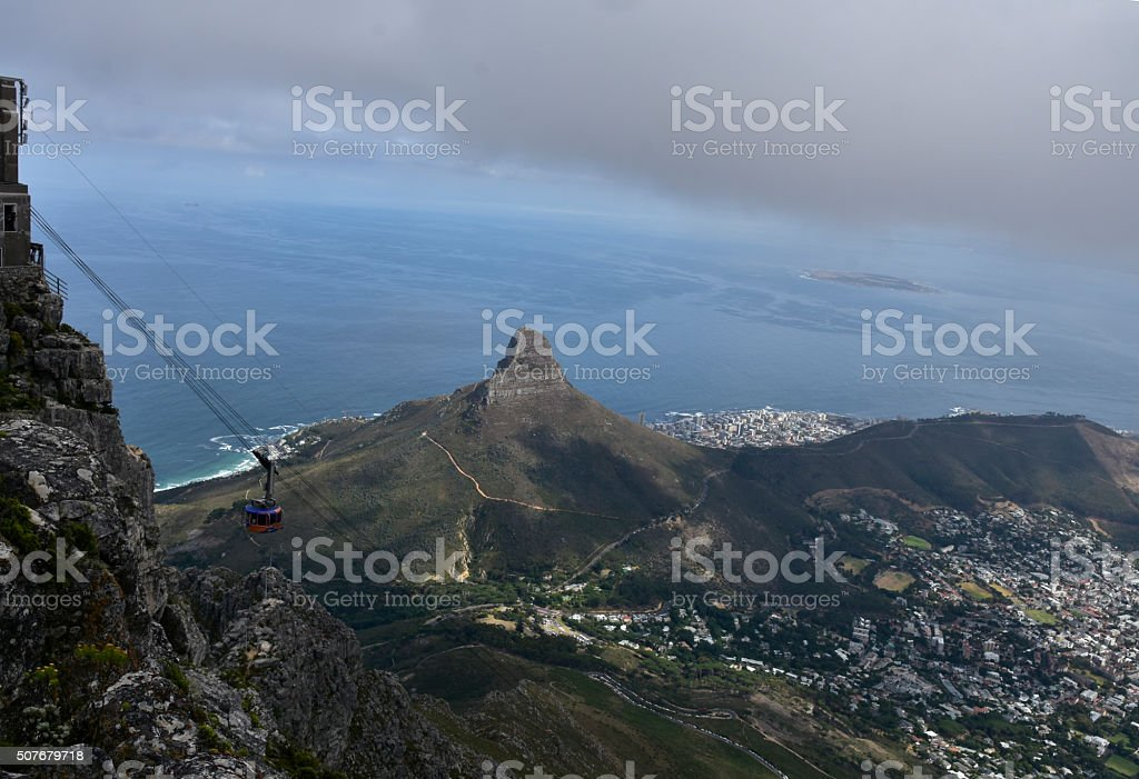 Cape Town Cable Car to Table Mountain stock photo